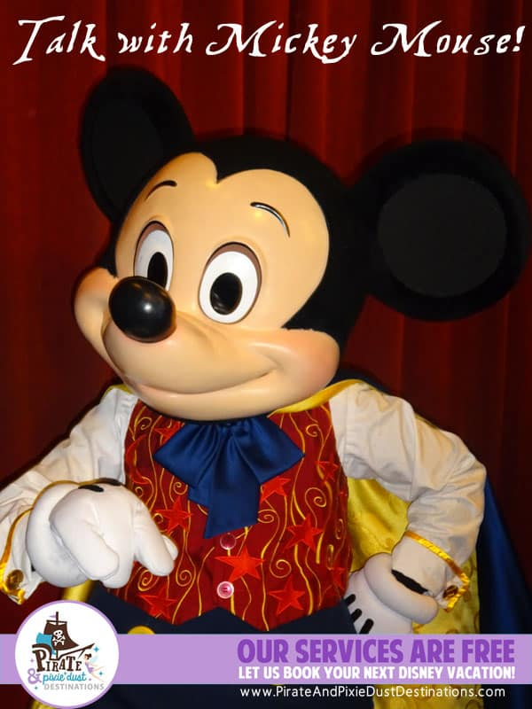 Talking With Mickey Mouse At Magic Kingdom