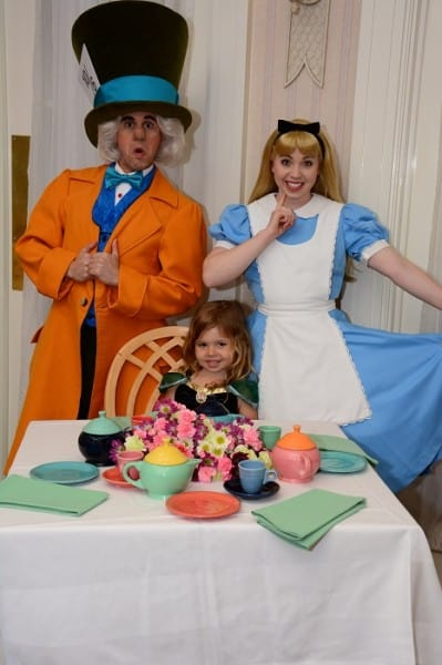 Posing with Alice and the Mad Hatter
