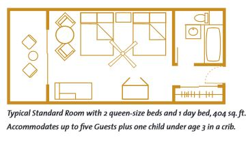 Layout of standard room