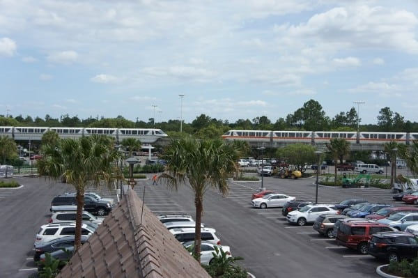 our standard view from Deluxe Villa included the monorail track, which the kids enjoyed!
