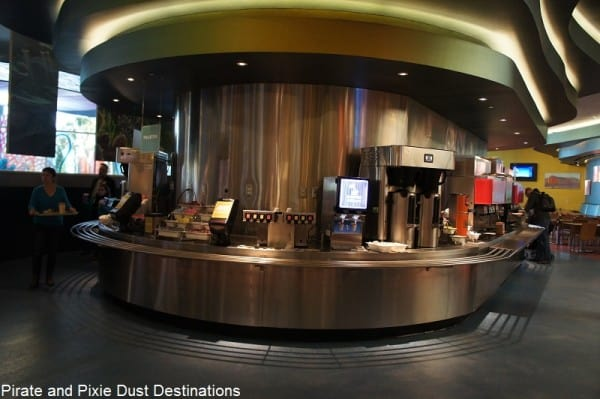 drink station in center of seating areas