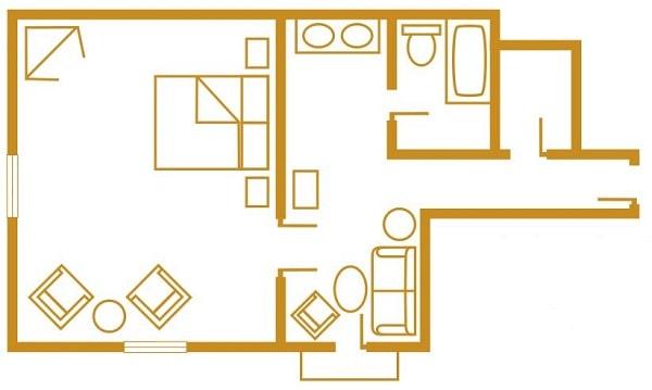 1 Bedroom Suite Layout