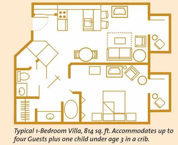 Disney s boardwalk inn for Boardwalk villas 1 bedroom