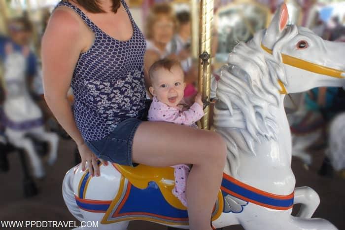 riding Prince Charming Carousel